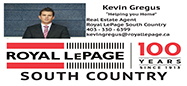 Realtor Kevin Gregus of Royal Lepage South Country